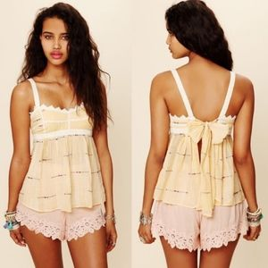 Free People~New Romantics~Lace Tie-Back Cami~Small